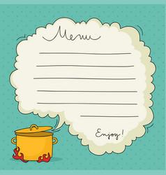 hand drawn menu template vector image vector image