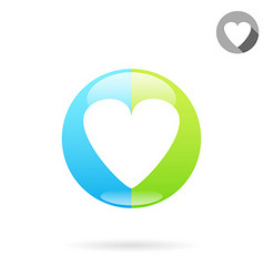 Heart medical icon vector image vector image