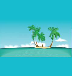 Lonely island vector image vector image