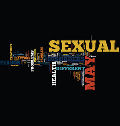 The different sexual health disorders text vector
