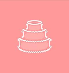 Wedding cake logo vector image