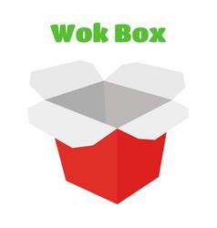 wok box asian food japan noodles vector image