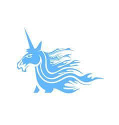 cute magical unicorn head vector image vector image