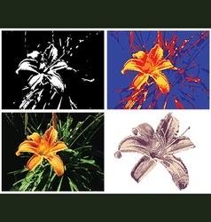 Multipurpose lily render vector
