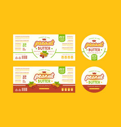 set of templates label for peanut butter vector image