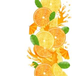 Sliced Oranges and Lemons vector image