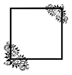 Vintage frame on white background vector image