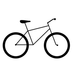 bicycle the black color icon vector image vector image