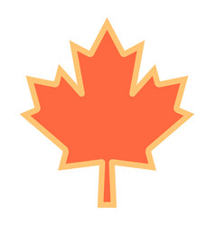 canadian maple leaf symbol vector image