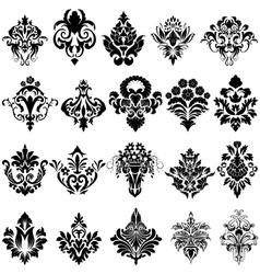 Damask Emblem Set vector image