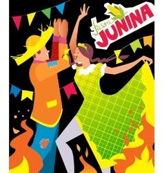 festa junina poster vector image