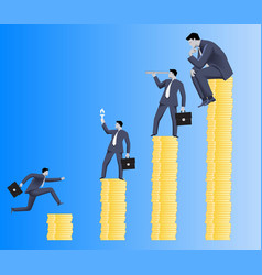 Hierarchy business concept vector image vector image