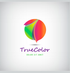 sphere circle 3d colorful logo vector image vector image