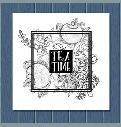 tea time design banner templates set vector image vector image