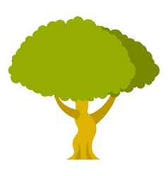 Tree icon flat style vector image vector image