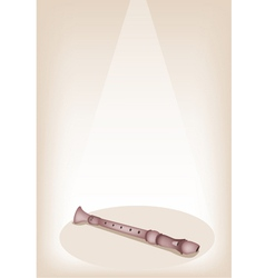 A Musical Recorder on Brown Stage Background vector image vector image