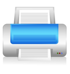 computer printer vector image