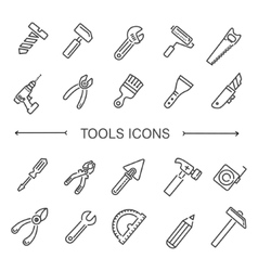 Construction tool icon collection vector