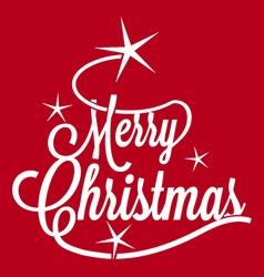 Merry Christmas greetings postcard vector image vector image