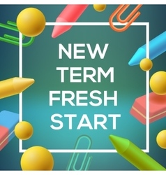 New Term back to school background vector image vector image