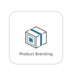 Product Branding Icon Flat Design vector image