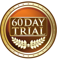 sixty day trial icon vector image vector image