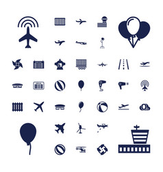 37 air icons vector