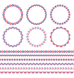4th of july frames and borders vector
