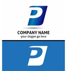 Alphabetical Logo Design Concepts Letter P vector