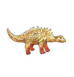 Ankylosaurus watercolor dinosaur vector