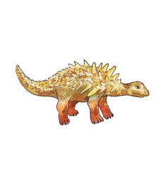 Ankylosaurus watercolor of dinosaur vector