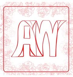AW monogram vector
