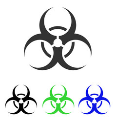 Biohazard symbol flat icon vector