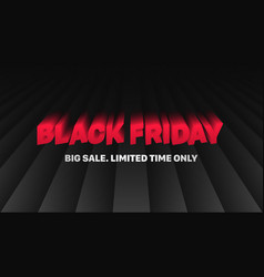 black friday sale 3d typography banner design vector image
