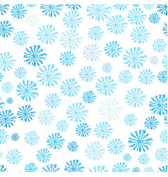 blue snowflakes seamless pattern abstract vector image