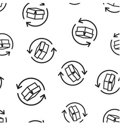 box package return icon seamless pattern vector image