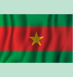 Burkina faso realistic waving flag national vector
