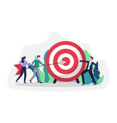 business goals achievement vector image