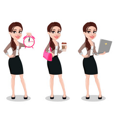 business woman in casual clothes vector image