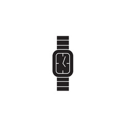 classic wrist watch black concept icon vector image