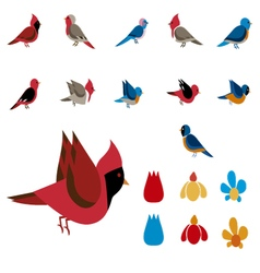 Clip images birds vector