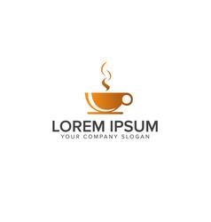 Coffe drink logo design concept template vector