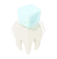 cold ice on tooth icon isometric style vector image