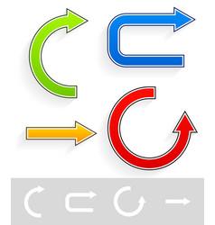 Colorfu brightl arrows vector