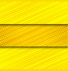 Comic yellow bright horizontal banners vector