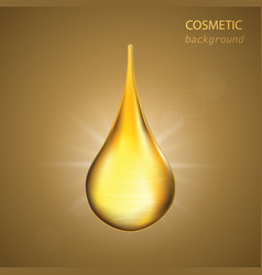 cosmetic background with drop oil vector image