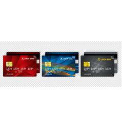 Credit debit card business or corporate design vector