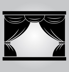 curtain on theater stage vector image