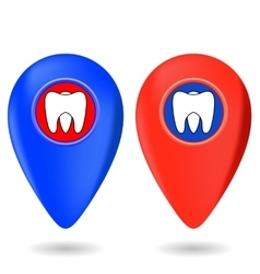 Dentist Red Blue Markers vector