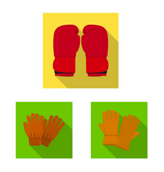 design of glove and winter icon collection vector image